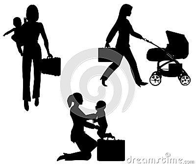 Werkend Mamma met Baby
