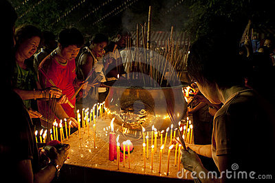 Wesak Day at Buddhist Maha Vihara Temple Editorial Image