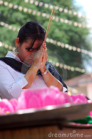 Wesak prayer Editorial Photo