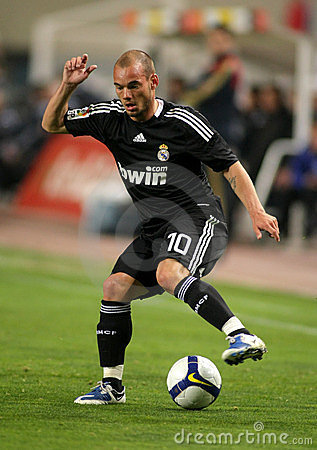 wesley sneijder real madrid. WESLEY SNEIJDER OF REAL MADRID