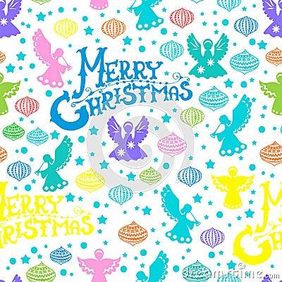 Wesoło Bożych Narodzeń bezszwowy wzór
