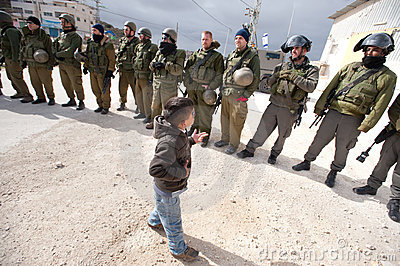 West Bank Anti-Wall Demonstration Editorial Stock Photo