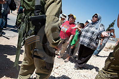 West Bank Protest Editorial Stock Photo