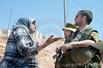 West Bank Protest Editorial Image
