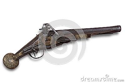 Vintage flint lock gun