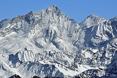 West face of the Weisshorn