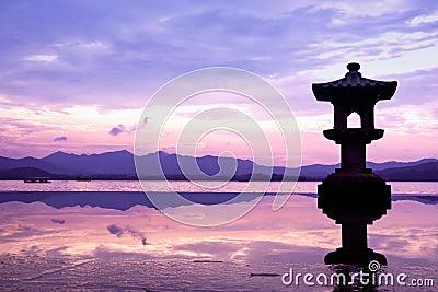 The west lake in hangzhou,China