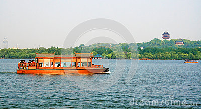 West Lake in Hangzhou Editorial Image