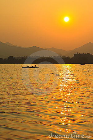 West Lake sunset, Hangzhou China