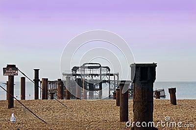 ruined pier