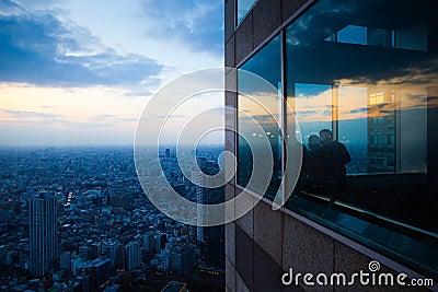 West Tokyo sunset