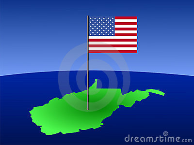 West Virginia with Flag