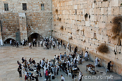 Westelijke Muur, Jeruzalem Redactionele Stock Foto