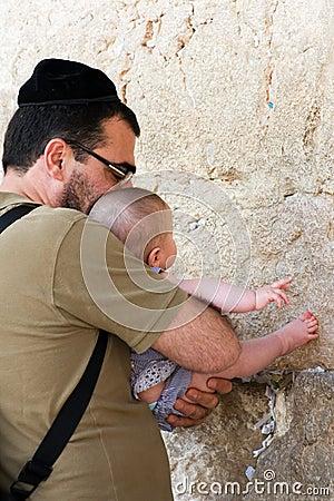 Westelijke muur in Jeruzalem Redactionele Stock Afbeelding