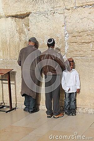 Westelijke muur, Jeruzalem, Israël Redactionele Stock Afbeelding