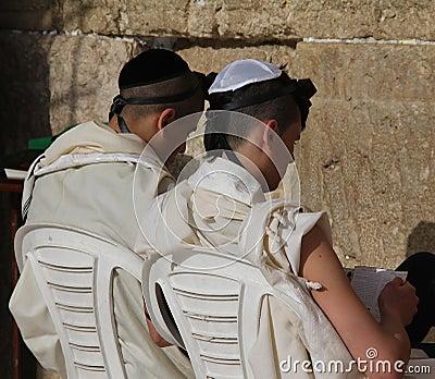 Westelijke Muur (Loeiende Muur). Jeruzalem Redactionele Stock Foto