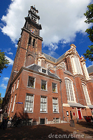 The Westerkerk church in Amsterdam