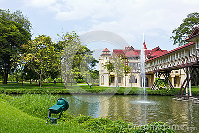 Western architecture,Sanam Chan Palace in Nkhonpathom thailand.