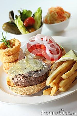 Western beef burger