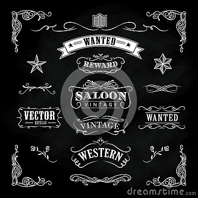 Free Western Hand Drawn Blackboard Vintage Badge Vector Royalty Free Stock Photos - 67455918