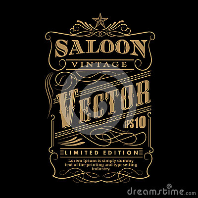 Free Western Hand Drawn Frame Label Border Vintage Vector Royalty Free Stock Images - 66698399