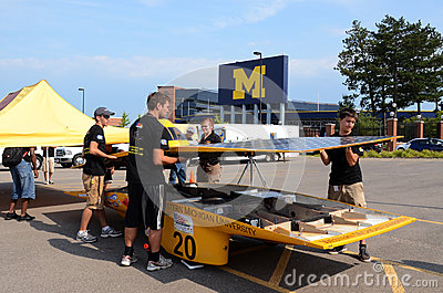 Western Michigan University's solar car Editorial Photography