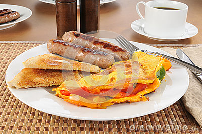 Western omlet with sausage
