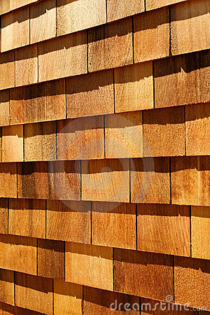 Western red cedar wood shingles - wall siding