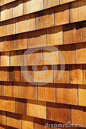 Western red cedar wood shingles - wall siding