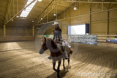 Western riding competition Editorial Stock Photo
