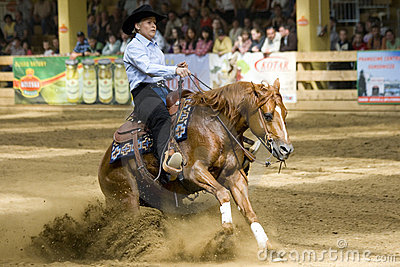 Western riding competition Editorial Stock Image