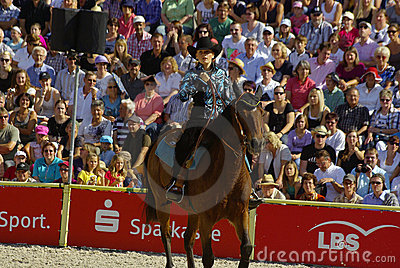 Western riding show, Marbach Stallion Parade Editorial Photography