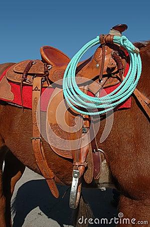 Western Saddle and Rope