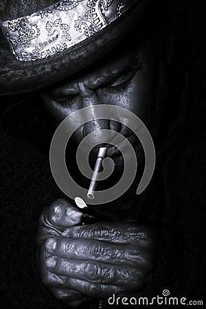 Western smoke - Black and White