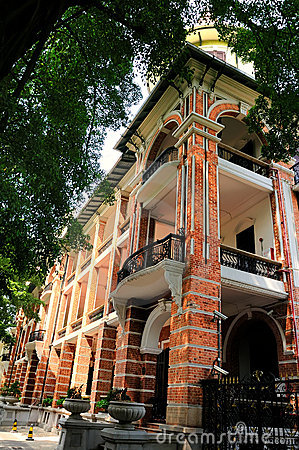Western style building of 19th Century in Shamian