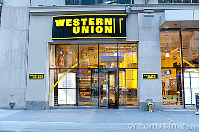 Western union location Editorial Stock Photo