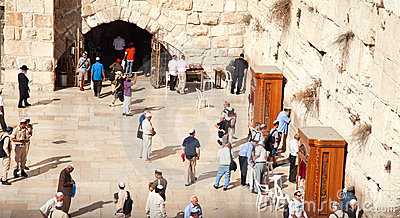 The Western or Wailing Wall in Jerusalem, Israel Editorial Stock Image