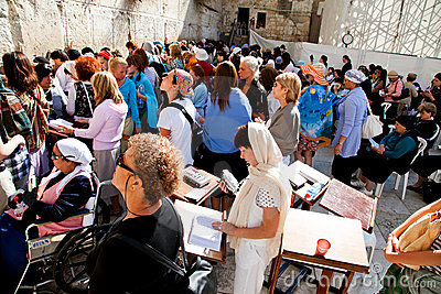 The Western or Wailing Wall in Jerusalem, Israel Editorial Image