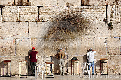 At the Western Wall Editorial Image