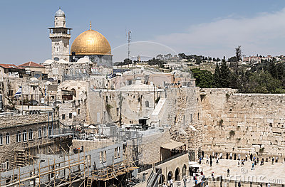The Western Wall and the Dome of the Rock - Jerusalem