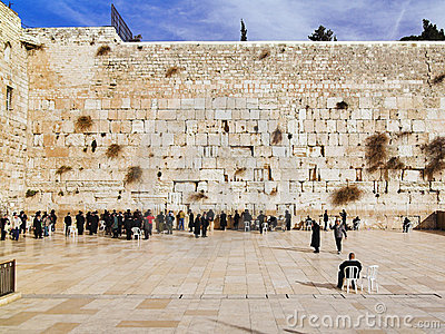 Western Wall in Jerusalem Editorial Stock Image