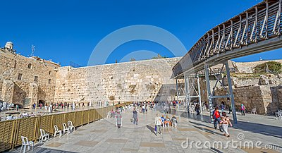 Western Wall in Jerusalem Editorial Image