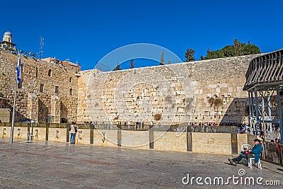 The Western Wall, Jerusalem Editorial Photo
