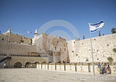 The western wall in jerusalem israel Editorial Image