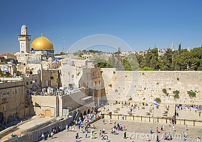 The western wall in jerusalem israel Editorial Stock Photo