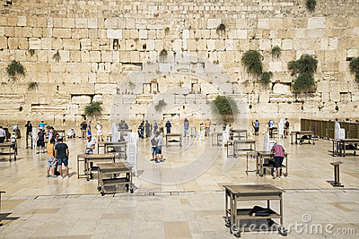 The western wall in jerusalem israel Editorial Stock Image