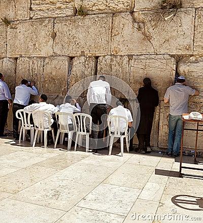 Western wall Jerusalem Editorial Image