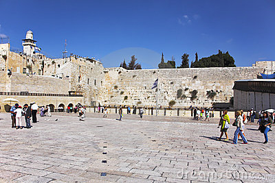 The western wall of the Jerusalem temple