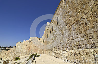 Western Wall in old Jerusalem.