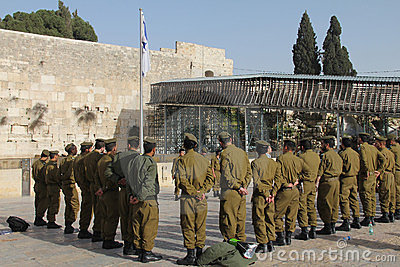 Western wall (Wailing Wall) Jerusalem Editorial Stock Photo